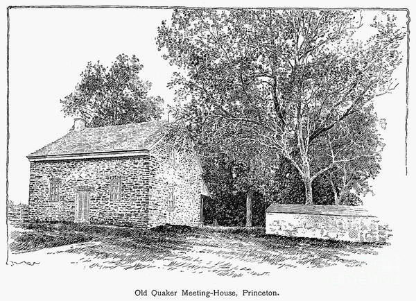 1893 Poster featuring the photograph Old Quaker Meeting House by Granger