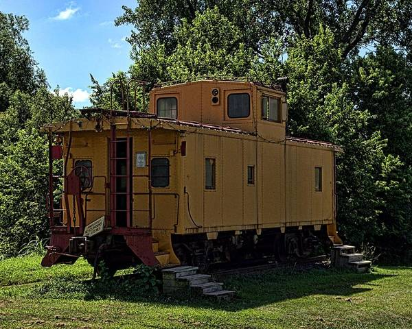Caboose Poster featuring the photograph Old Time Caboose by Tim McCullough