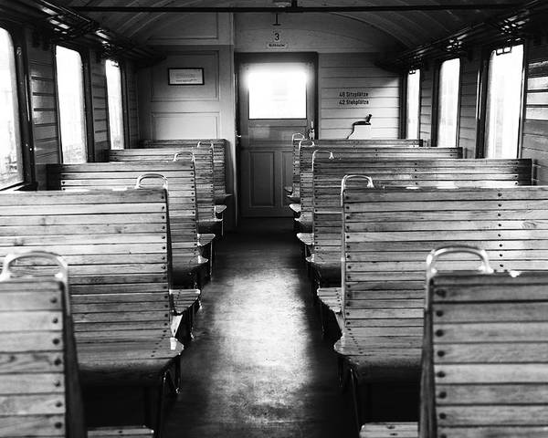 Altes Zugabteil Poster featuring the photograph Old Train Compartment by Falko Follert