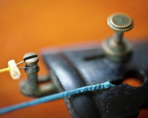 Horizontal Poster featuring the photograph Old Violin by Rudy Malmquist