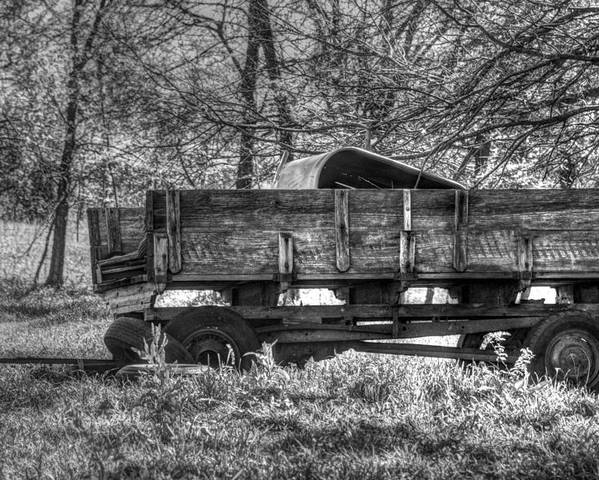 Wagons Poster featuring the photograph Old Wagon by Lisa Moore
