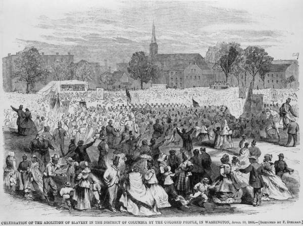 History Poster featuring the photograph On April 19, 1866, African Americans by Everett