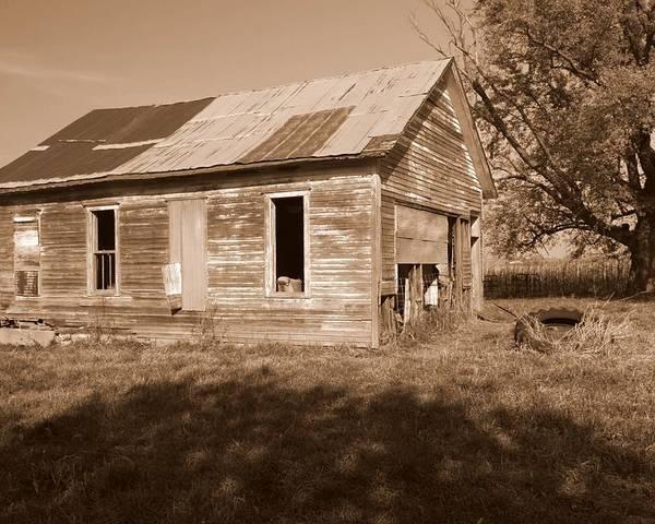 One Room School Poster featuring the photograph One Room School House by Rick Rauzi
