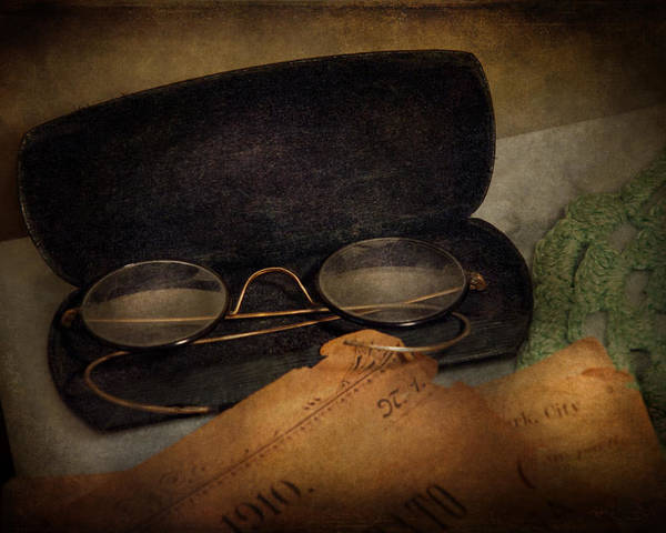 Hdr Poster featuring the photograph Optometrist - Glasses For Reading by Mike Savad