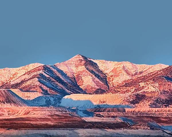 Oquirrh Mountains Poster featuring the photograph Oquirrh Mountains Utah First Snow by Tracie Kaska