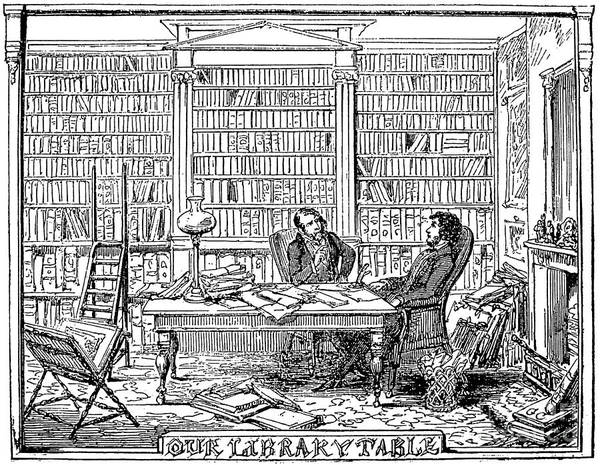 1842 Poster featuring the photograph Our Library Table, 1842 by Granger