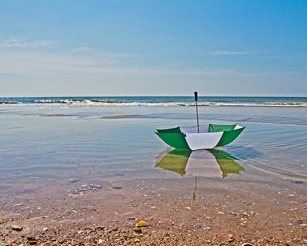 Umbrella Poster featuring the photograph Out For A Stroll by Betsy Knapp