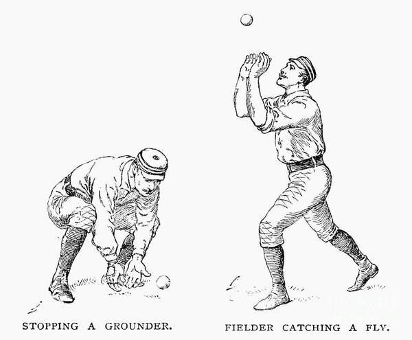 1889 Poster featuring the photograph Outfielder, 1889 by Granger