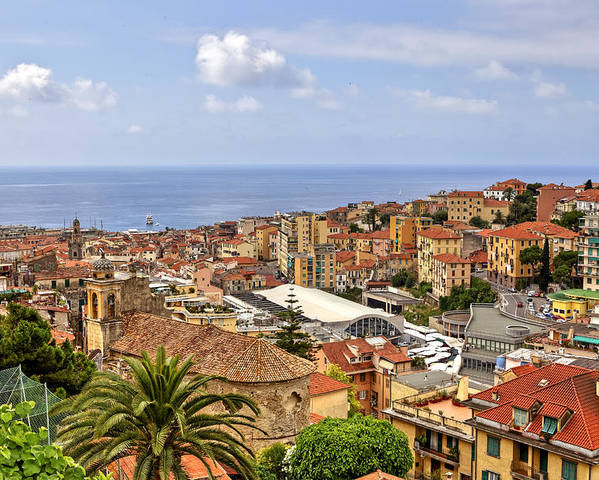San Remo Poster featuring the photograph Over The Roofs Of Sanremo by Joana Kruse