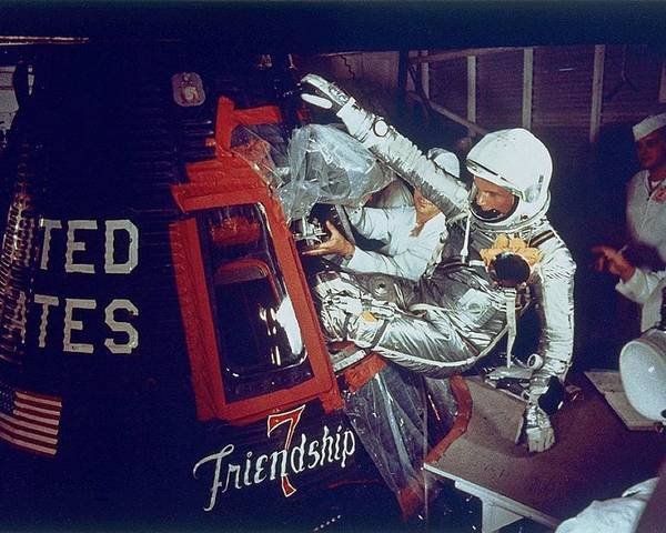 History Poster featuring the photograph Overall View Of Astronaut John Glenn by Everett