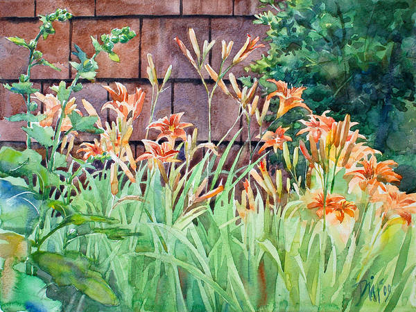 Poster featuring the painting Oxenden Lilies by Peter Sit
