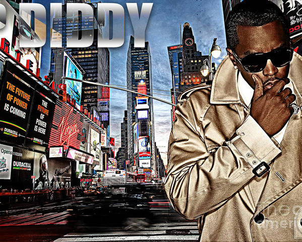 Sean John Poster featuring the digital art P Diddy by The DigArtisT