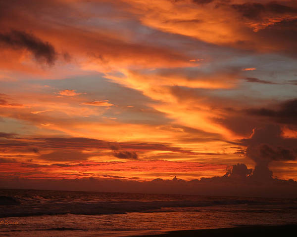 Sunset Poster featuring the photograph Pacific Sunset Costa Rica by Michelle Wiarda-Constantine