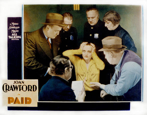1930 Movies Poster featuring the photograph Paid, Joan Crawford Center, 1930 by Everett