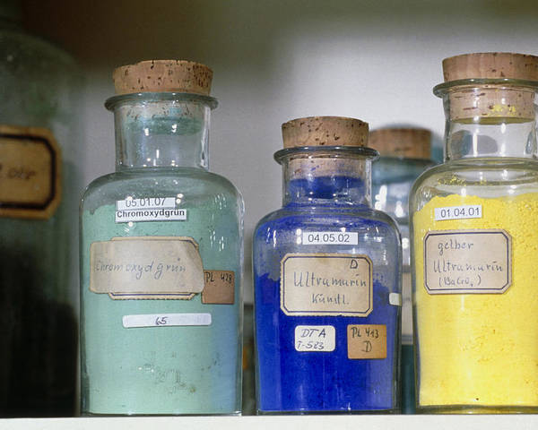 Sample Poster featuring the photograph Paint Pigment Samples Used In Forgery Detection by Volker Steger