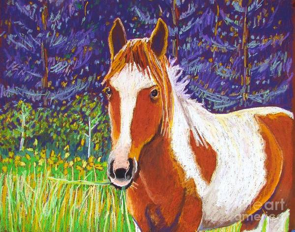 Horse Poster featuring the pastel Paintchip by Harriet Peck Taylor