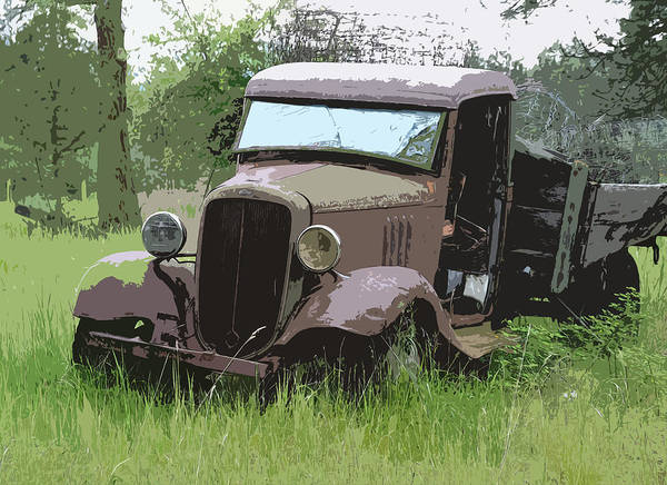 Chevy Truck Poster featuring the photograph Painted 30's Chevy Truck by Steve McKinzie