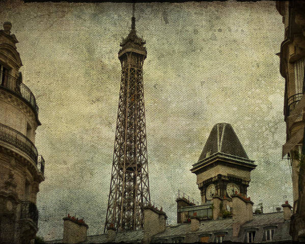 Paris Painting Poster featuring the photograph Pale Paris by Georgia Fowler