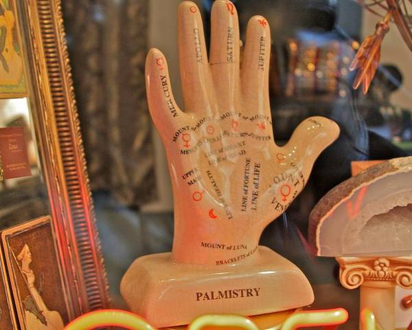 New York City Poster featuring the photograph Palmistry by Jerry Patterson