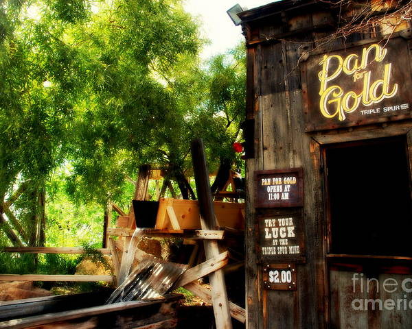 Pan For Gold Poster featuring the photograph Pan For Gold In Old Tuscon Arizona by Susanne Van Hulst