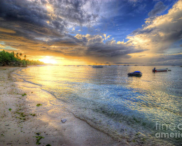 Yhun Suarez Poster featuring the photograph Panglao Island Sunrise by Yhun Suarez