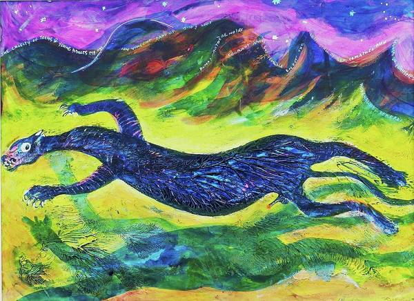Art Poster featuring the painting Panther In The Springtime by Ion vincent DAnu