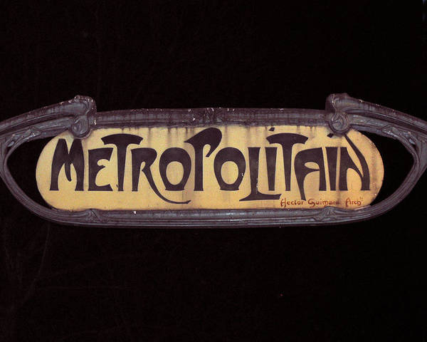 French Poster featuring the photograph Parisienne Metro Sign by Rod Jones