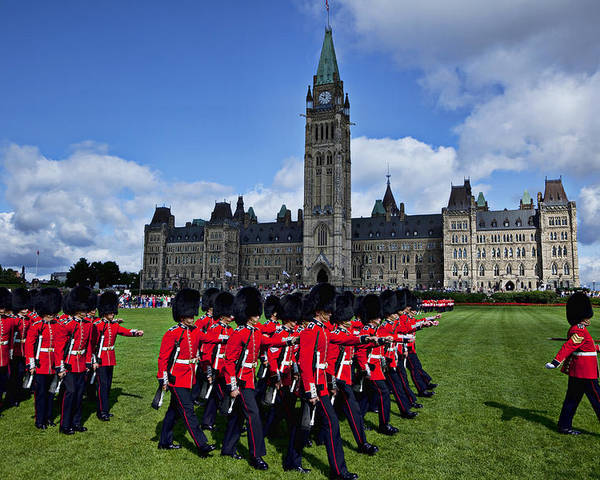 Parliament Building Poster featuring the photograph Parliament Building Ottawa Canada by Garry Gay