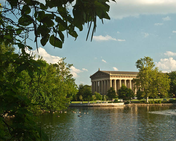 Nashville Poster featuring the photograph Parthenon At Nashville Tennessee 10 by Douglas Barnett