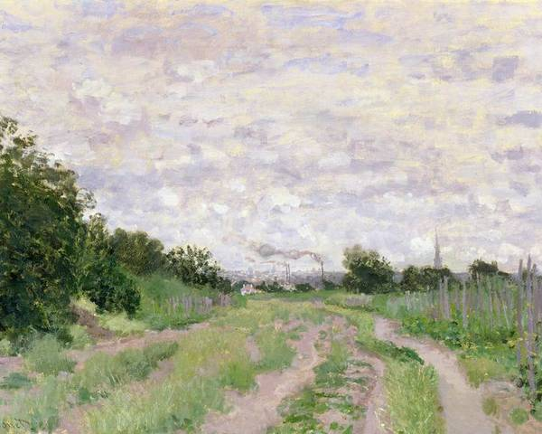Path Poster featuring the painting Path Through The Vines At Argenteuil by Claude Monet