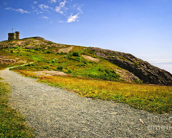 Cabot Tower Poster featuring the photograph Path To Cabot Tower On Signal Hill by Elena Elisseeva
