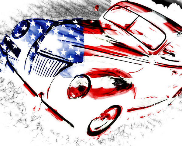 Ford Poster featuring the photograph Patriotic 39 Ford by Phil 'motography' Clark
