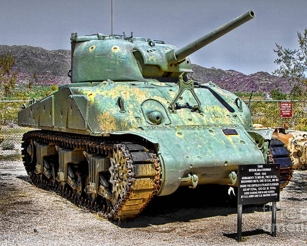 Patton M4 Sherman Poster featuring the photograph Patton M4 Sherman by Jason Abando