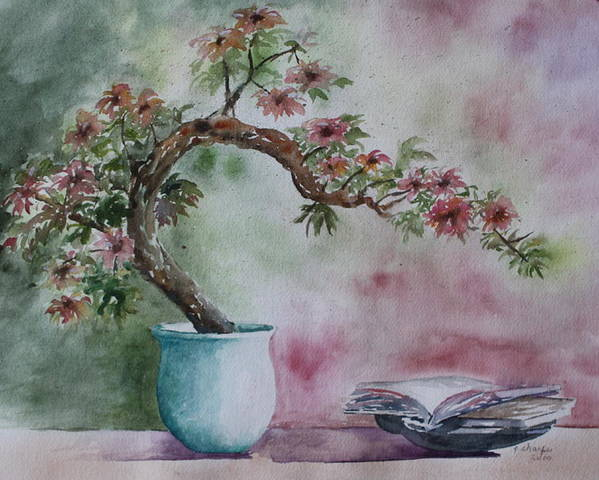 Peaceful Still Life Poster featuring the painting Peace Of Mind by Patsy Sharpe