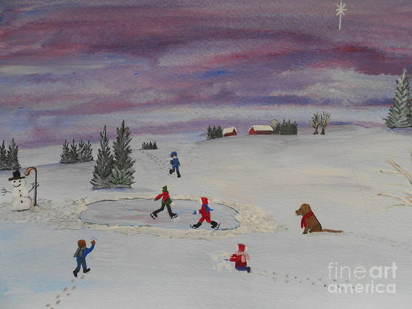 Barbara Mcneil Artwork Poster featuring the painting Peace On Earth...goodwill Toward Men by Barbara McNeil