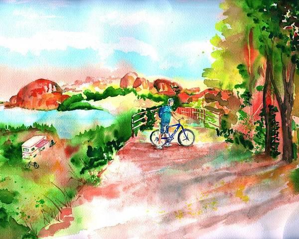 Peavine Trail Prescott Arizona Poster featuring the painting Peavine Trail Prescott Arizona by Sharon Mick