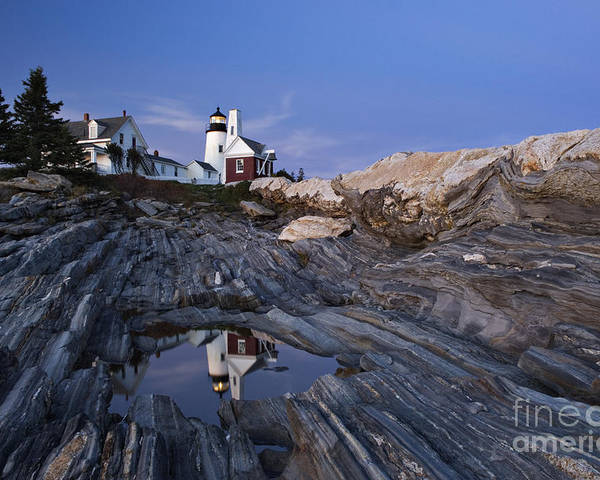 Pemaquid Poster featuring the photograph Pemaquid Point Lighthouse - D002139 by Daniel Dempster