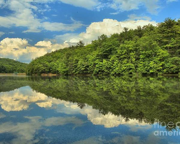Long Branch Lake Poster featuring the photograph Perfect Reflections by Adam Jewell