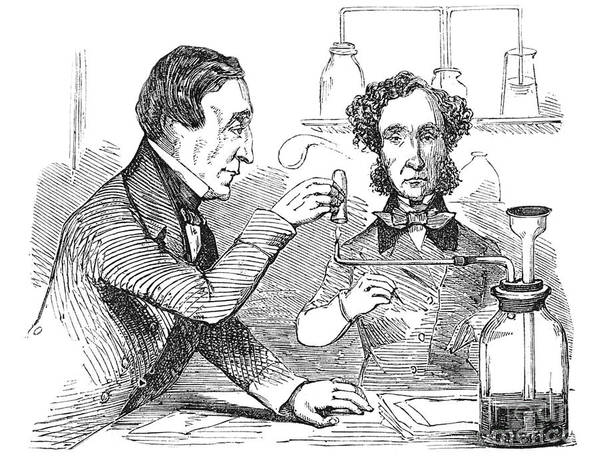 Science Poster featuring the photograph Performing The Marsh Test, 1856 by Science Source