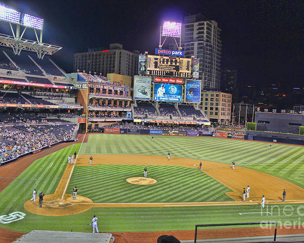 San Diego Padres Petco Park Downtown San Diego California Baseball Stadium Best In The Nation San Diego Padres Petco Park Downtown San Diego California Baseball Stadium Best In The Nation San Diego Padres Petco Park Downtown San Diego California Baseball Stadium Best In The Nation San Diego Padres Petco Park Downtown San Diego California Baseball Stadium Best In The Nation San Diego Padres Petco Park Downtown San Diego California Baseball Stadium Best In The Nation Poster featuring the photograph Petco Park San Diego Padres by RJ Aguilar