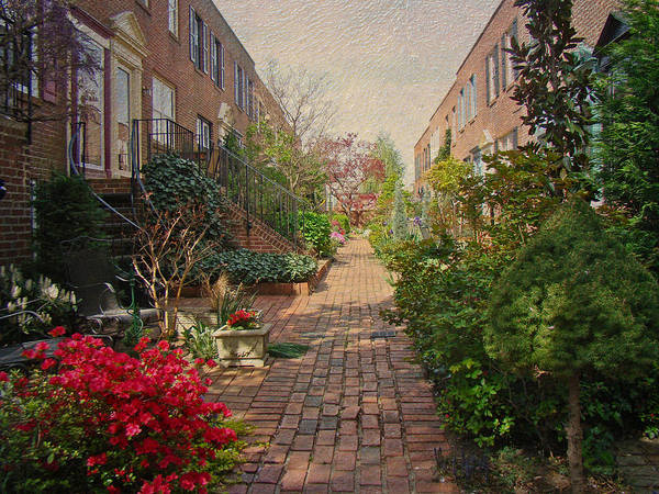 Floral Poster featuring the photograph Philadelphia Courtyard - Symphony Of Springtime Gardens by Mother Nature