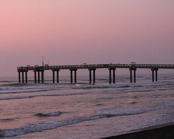 Pier Poster featuring the photograph Pier At Sunrise by Rod Andress