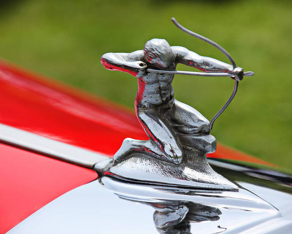 Piere-arrow Hood Ornament Poster featuring the photograph Piere-arrow Hood Ornament by Garry Gay