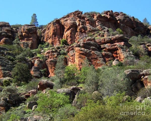 Artoffoxvox Poster featuring the photograph Pinnacles Rock Face Photograph by Kristen Fox