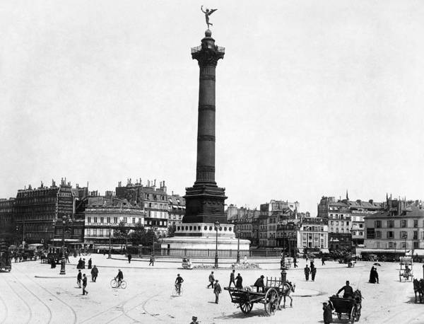 1900 Poster featuring the photograph Place De La Bastille by Granger