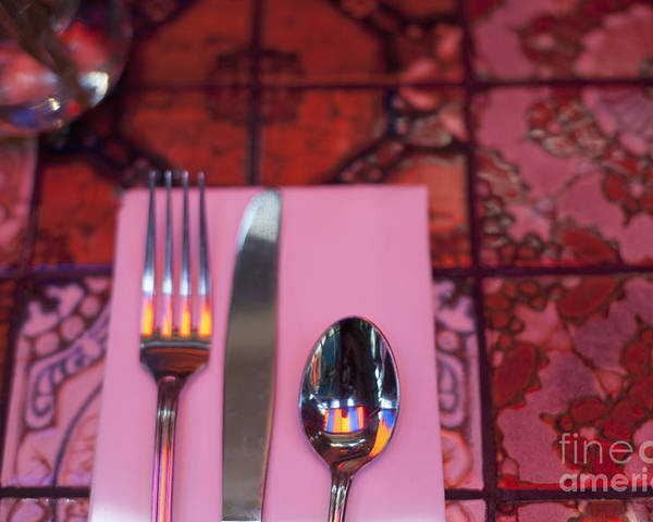Background Poster featuring the photograph Place Setting by Sam Bloomberg-rissman