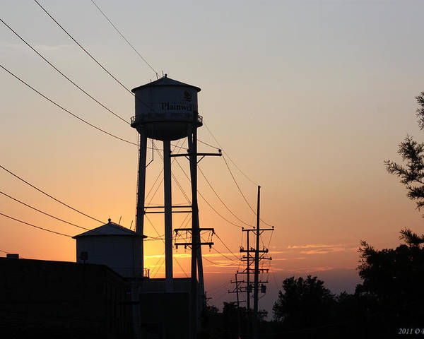 Paper Mill Poster featuring the photograph Plainwell Paper Sunset by Penny Hunt