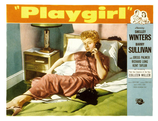 1950s Portraits Poster featuring the photograph Playgirl, Shelley Winters, 1954 by Everett