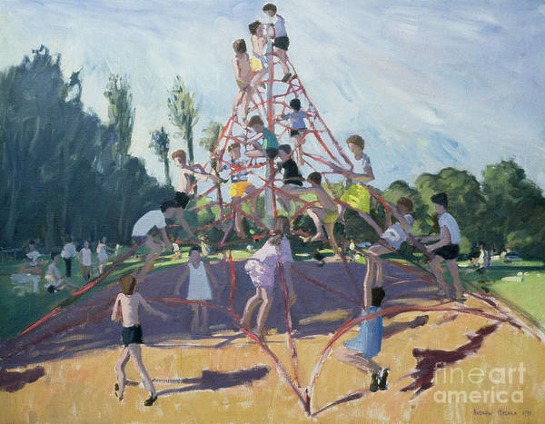 Climbing Frame Poster featuring the painting Playground by Andrew Macara