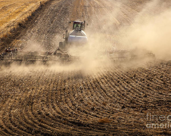 Plow Poster featuring the photograph Plowing The Ground by Mike Dawson